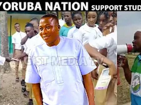 Yoruba Nation Campaign Team Distributes Books To Students In Southwest (Video)