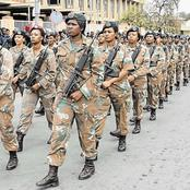 Take a look at how much the south African soldiers are getting paid every month for their salary