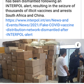 Interpol warns against counterfeit Covid-19 vaccines in SA