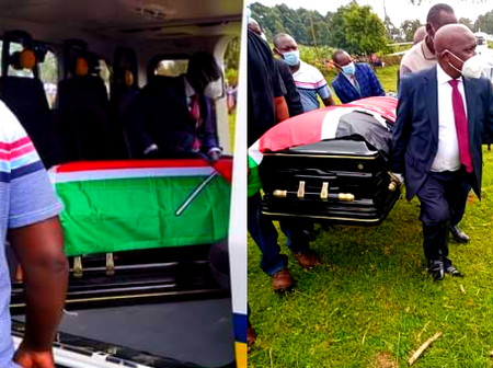 Why John Nyagarama's Black Coffin Was Covered With A Flag [Photos]
