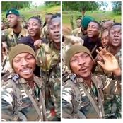 Video: Mixed Reaction As Nigerian Army Were Spotted Singing An Anti Boko Haram Song.