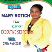 Mary Rotich Becomes The First Woman Elected As KUPPET Executive Secretay