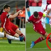 Liverpool 0-0 Real Madrid: See James Milner's Rough Tackle On Benzema Which VAR Overlooked.
