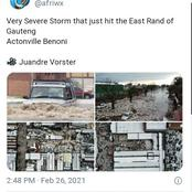 Parts of Joburg hit by severe thunderstorm, hail