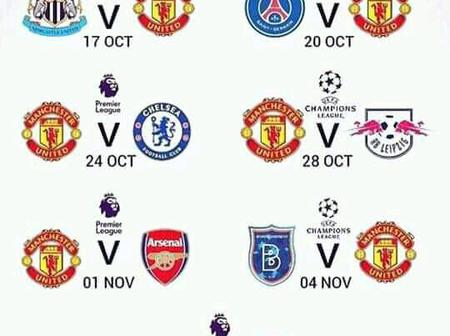 Can Manchester United Manager Solksjaer Avoid Being Sacked? See Manchester United Next 7 Fixtures.