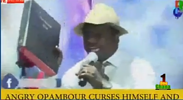 6cdc8aae4c50818b45996d54bd7a9dd5?quality=uhq&resize=720 - You will die on Live TV if you continue to curse - Prophet Elijah warns Opambour after he cursed with the Holy Bible