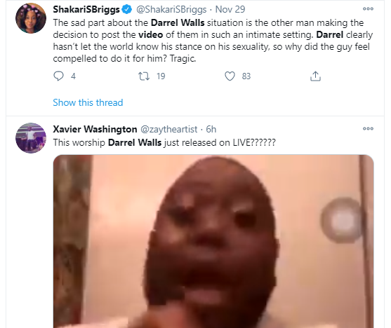 Gospel singer, Darrel Walls deletes Instagram after video of him kissing his