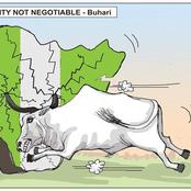 Punch Cartoon About Buhari, Nigeria's Unity & Cow Sparks Different Reactions On Social Media