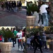 Watch : Gang Members Fighting At Century City, Cape Town.