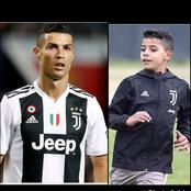 See Photos Of Cristiano Ronaldo's Hardworking Son Who Plays For Juventus Academy