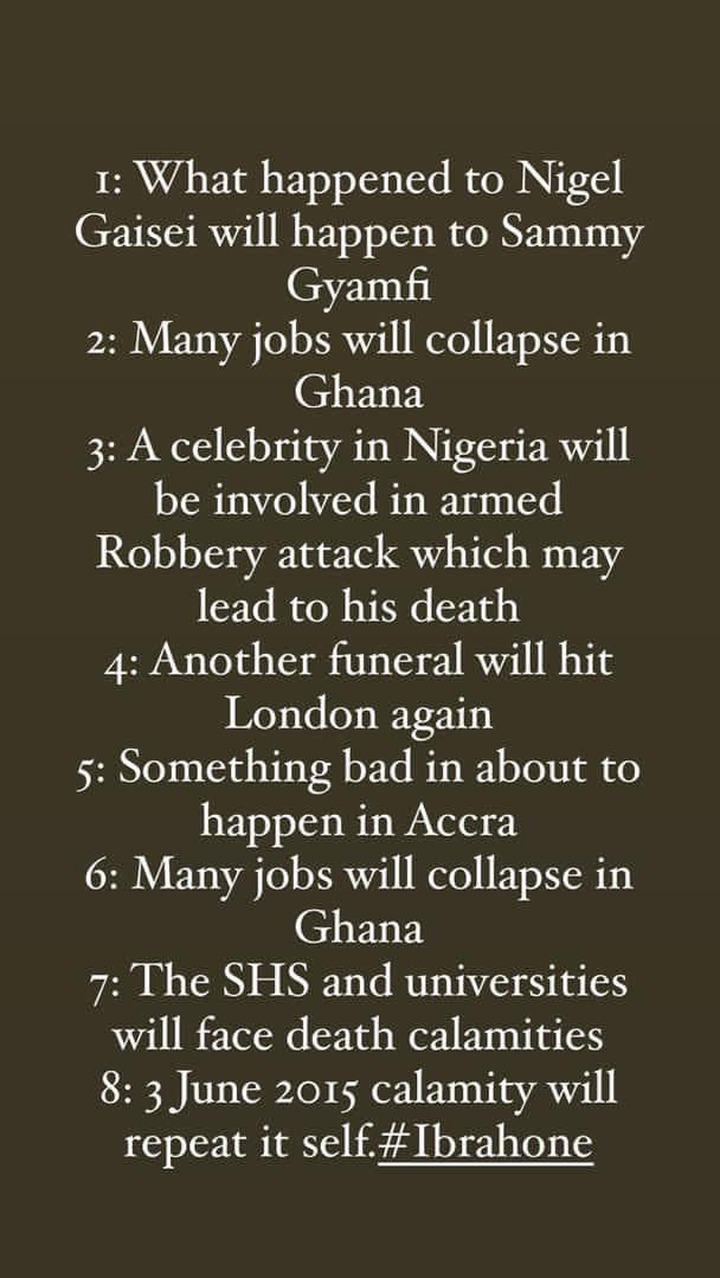 "6d3db3936c0c49988a7774fe65d4da53?quality=uhq&resize=720 - ""Universities And SHS Will Face Death Calamities"" - Ibrah One Drops Doom Prophecies"