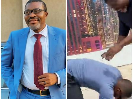 William Uchemba Prostrates For Kanayo O. Kanayo, Read What Happened Between Them (Photos & Video)