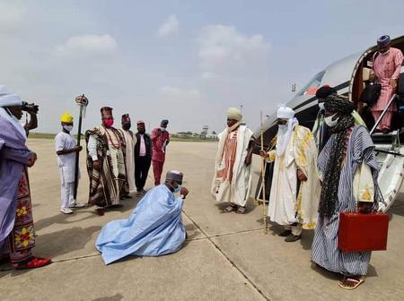 Emir Sanusi Travels To Ibadan For Kola Karim's Coronation, See Photos