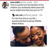 Jub Jub's tweet about AKA ends badly for him
