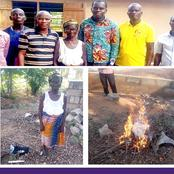 Idol worshipper Receives Christ After Pentecost Pastor's Sermon; Surrenders Her Charms To Be Burnt