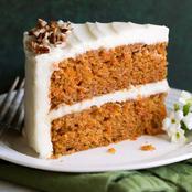 Simple carrots cake ingredients