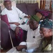 At 83 Chief Olusegun Obasanjo Still Sits on the Floor for His Elders