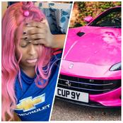 No apologies, Cuppy should return that Ferrari ASAP - Fan cries out as DJ Cuppy struggles in new car