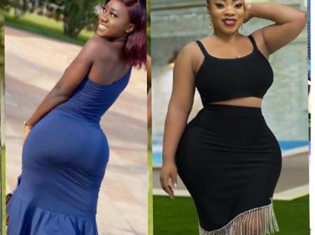 Moesha Boduong and Hajia Bintu who has a better curve? (Photos)