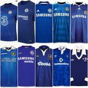 All Chelsea Football Club Jersey Collection From 1971 To 2020 - Photos