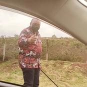 Actor Pascal Tokodi Gets Extremely Excited After He Bumped Into President Uhuru While Taking A Walk