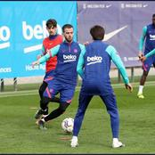 Barcelona stars immediately return's to training after their comeback win over sevilla