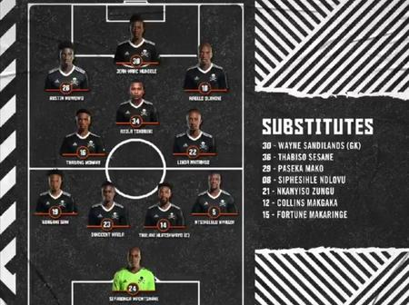 Orlando Pirates Starting Line Ups 'Mpontshane Starts' + Link To Watch The Game Live