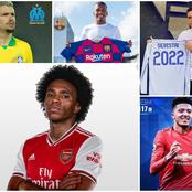Latest Done Deals in Europe, Update on Willian, Sancho, Barca, Chelsea, Man Utd and Nigerian Players