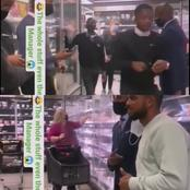 Mamelodi Sundowns Star Caused Traffic Inside Grocery Store As Staff Posed For Pictures