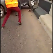A driver hits a police official off the bridge, when trying to get away
