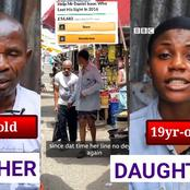 See How Much Nigerians Have Donated For 19yr-old Girl And Her 45yr-old Blind Father(Video)
