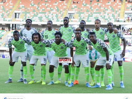 Super Eagles Of Nigeria Vs Crocodiles Of Lesotho In Their Last 2021 Afcon Qualifier's Match