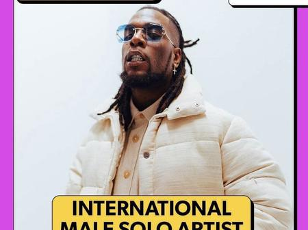 After Burna Boy Got Nominated For Another International Award, See How He Reacted (Photo)