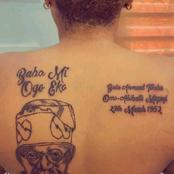 See What A Lady Drew And Wrote On Her Back That Triggered Reactions From People On Facebook (Photos)