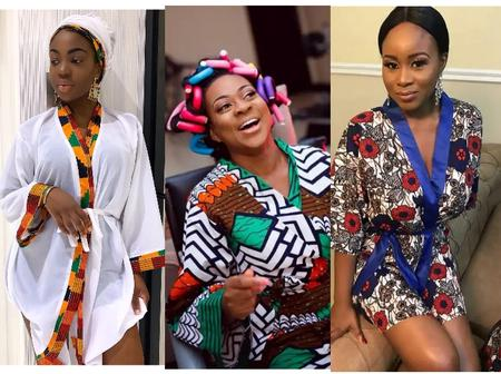 Ladies Checkout these Elegant Ankara Print Bridal Robes You Can Use For Your Bridal Showers.