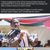 When Will You go to Other Parts of the country? Critics Tell Peter Munya