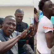 See What Youths Allegedly Did While Police Tried To Arrest Sunday Igboho Today
