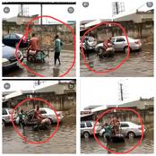See What A Cart Pusher And A Man Was Caught Doing Publicly That Got Twitter users Reacting (Video)