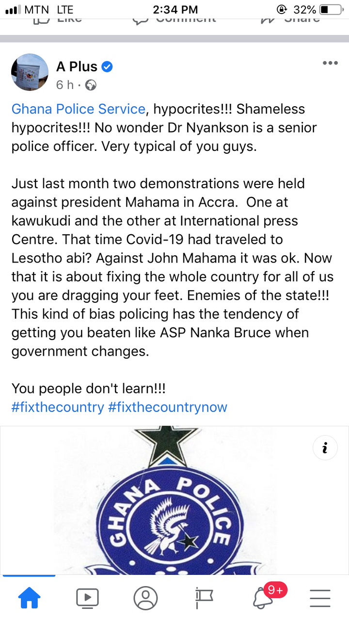 """6eb5817554c64af6bf832d1a0394db2d?quality=uhq&resize=720 - """"Hypocrites"""" - Angry A Plus Goes Hard On Ghana Police For Stopping #FixTheCountry Demonstration"""