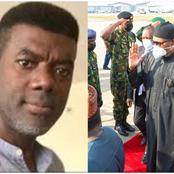 Reno Omokri welcomes president Muhammadu Buhari back to Nigeria after his medical trip to the UK