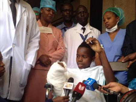 Kenyan Doctors Reattached The Hand Of This Victim After Seven Hours Surgery.
