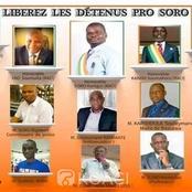 Les 15 députés pro-Soro libérés et placés sous contrôle judiciaire