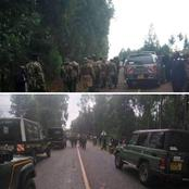 Heavy Security Personnel Spotted In Nandi Hills Ahead Of Dp Ruto's Vist