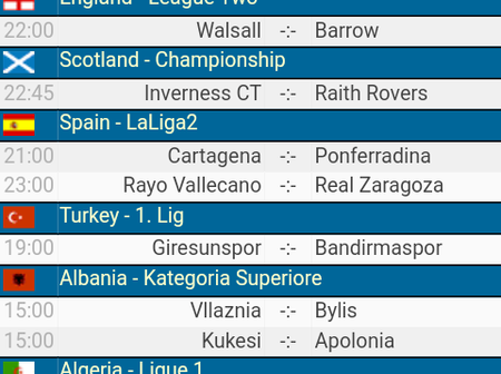 Friday Matches  To Stake On