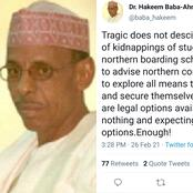 Hours After Over 300 Students Were Kidnapped By Bandits, Man Advises Northerners