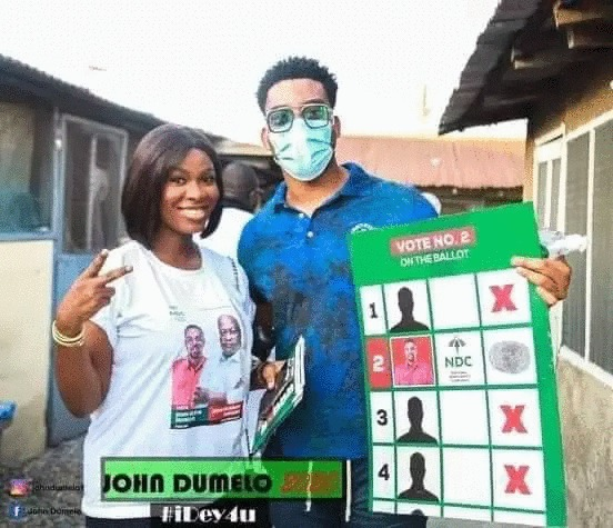 6f0678ee12ce869d7a16c1e46d57587d?quality=uhq&resize=720 - John Dumelo And Hon Lydia Alhassan Celebrities Campaign Team, Who Is More Influential? (Photos)