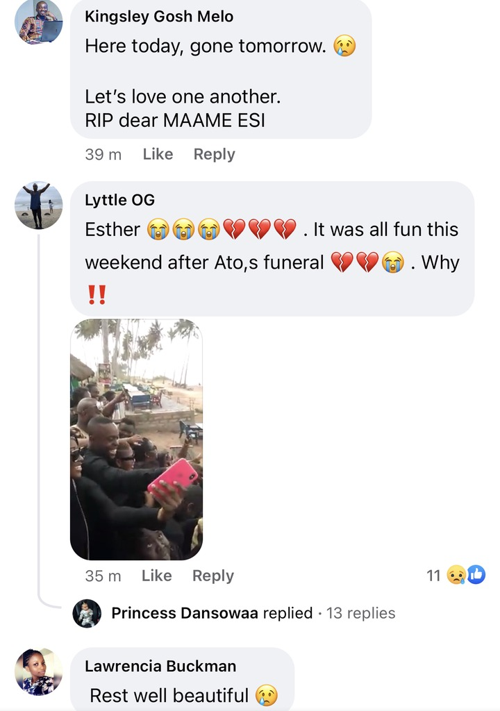 6f06f4607405c07c2f23a260cc9d3dd3?quality=uhq&resize=720 - Sad: Benedicta Gafah shed tears As She mourns her sister who was reported dead In A Fatal Accident (Photos)