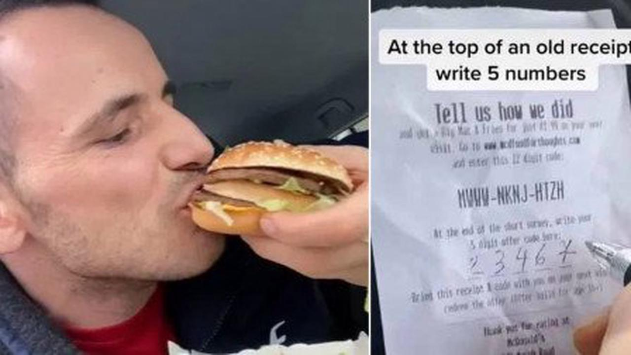Man shares tip to get a McDonald's Big Mac and fries half price every time