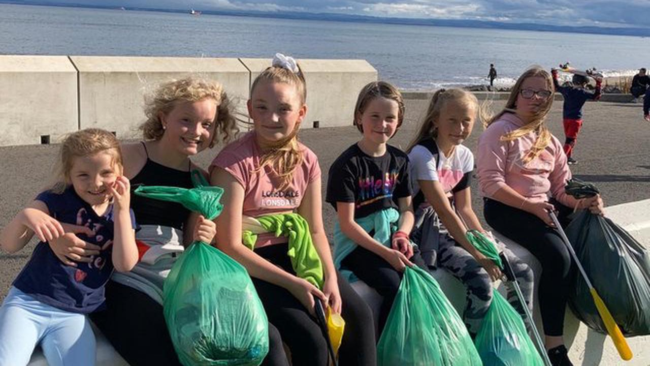Kirkcaldy beach clean-up as mums and daughters take to the shore to rid the area of rubbish