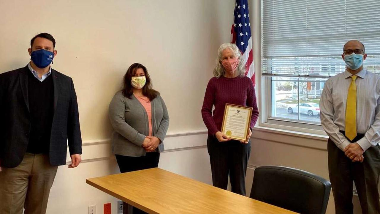 Treasurer named Milford employee of the month